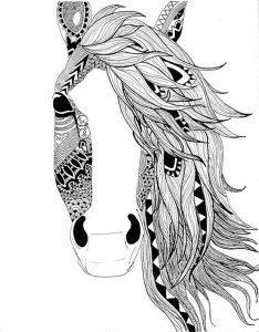 раскраски антистресс лошади