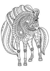 раскраски антистресс лошади распечатать