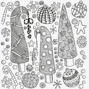 раскраски антистресс новогодние распечатать