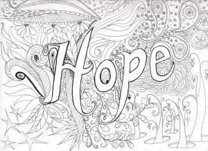 раскраски с надписями надежда