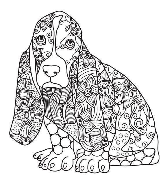раскраски антистресс собака грустит