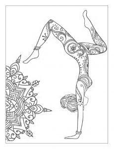 раскраска антистресс йога ассана