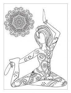 раскраски антистресс йога искусство