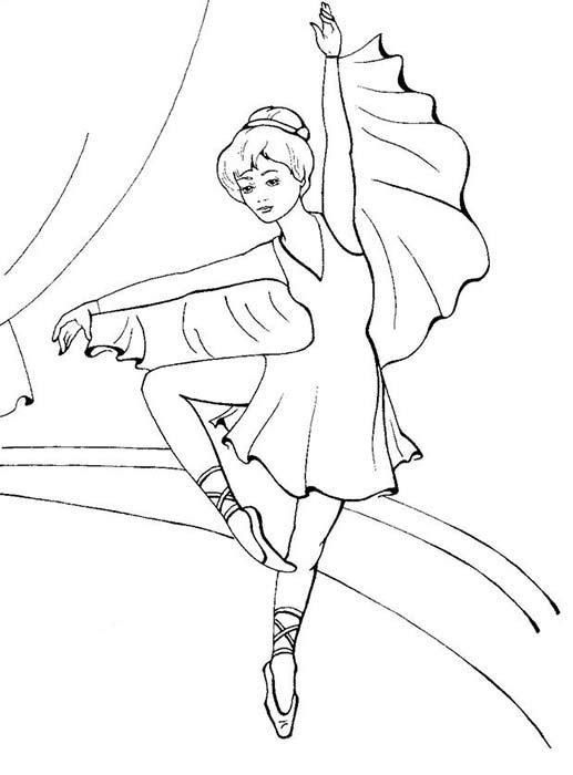 раскраски балерина для девочек распечатать