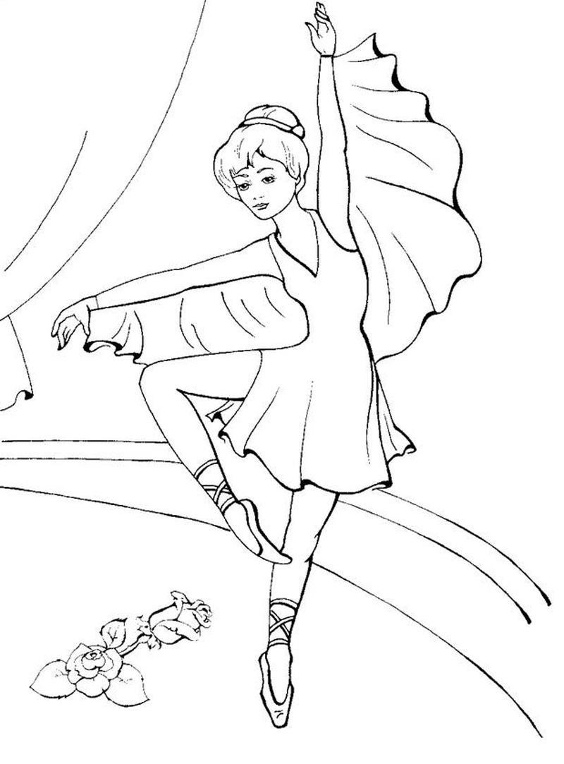 Картинки балерин раскраски
