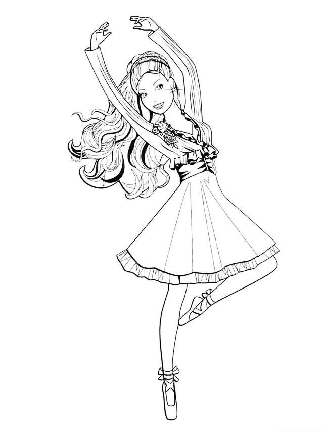 раскраски балерины распечатать бесплатно формат а4