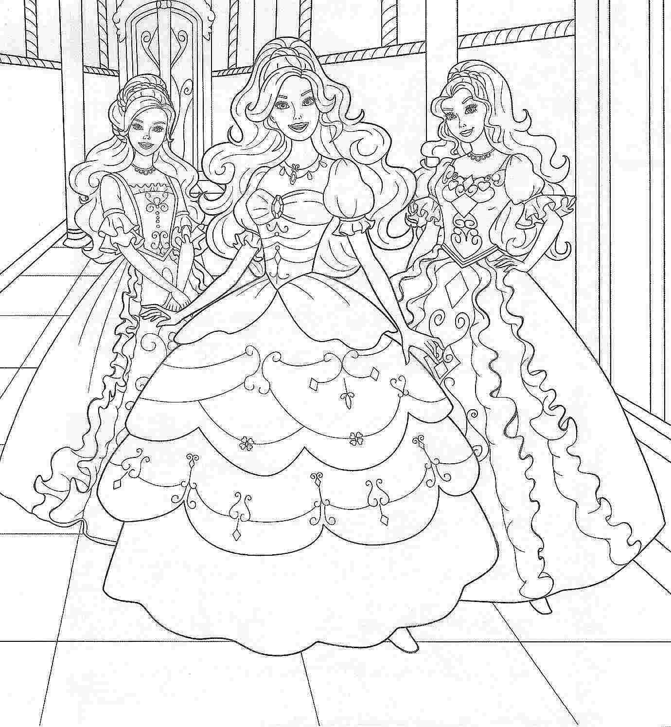 раскраски барби академия принцесс
