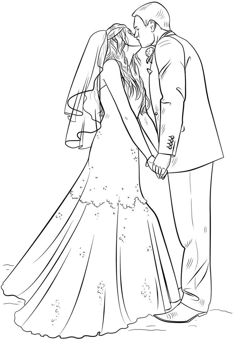 Как нарисовать открытку на свадьбу поэтапно