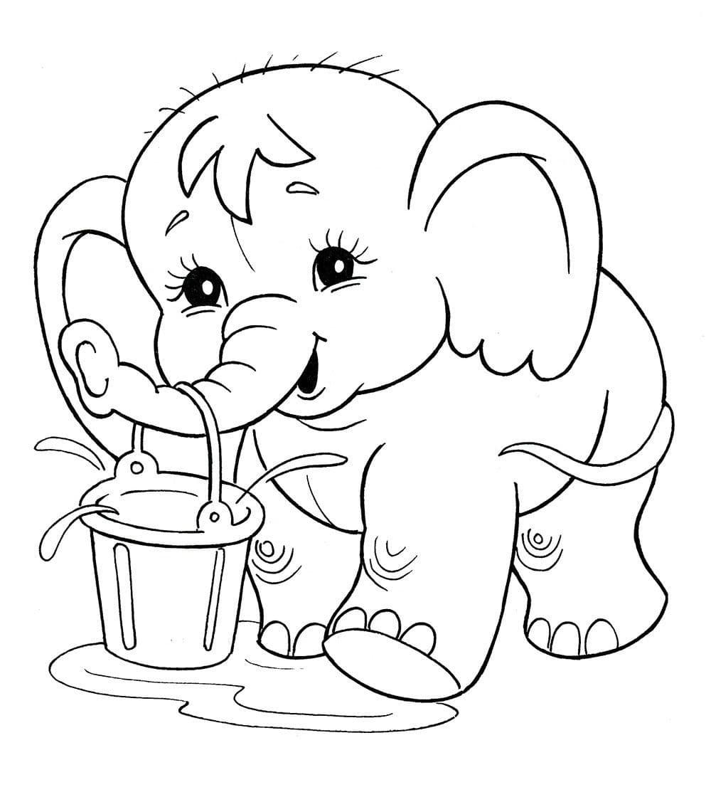 раскраски для девочек 5 лет животные