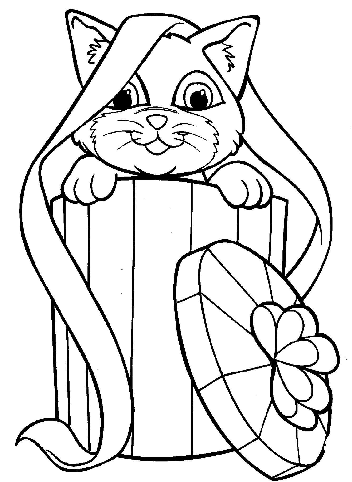 раскраски для девочек 7 лет котята