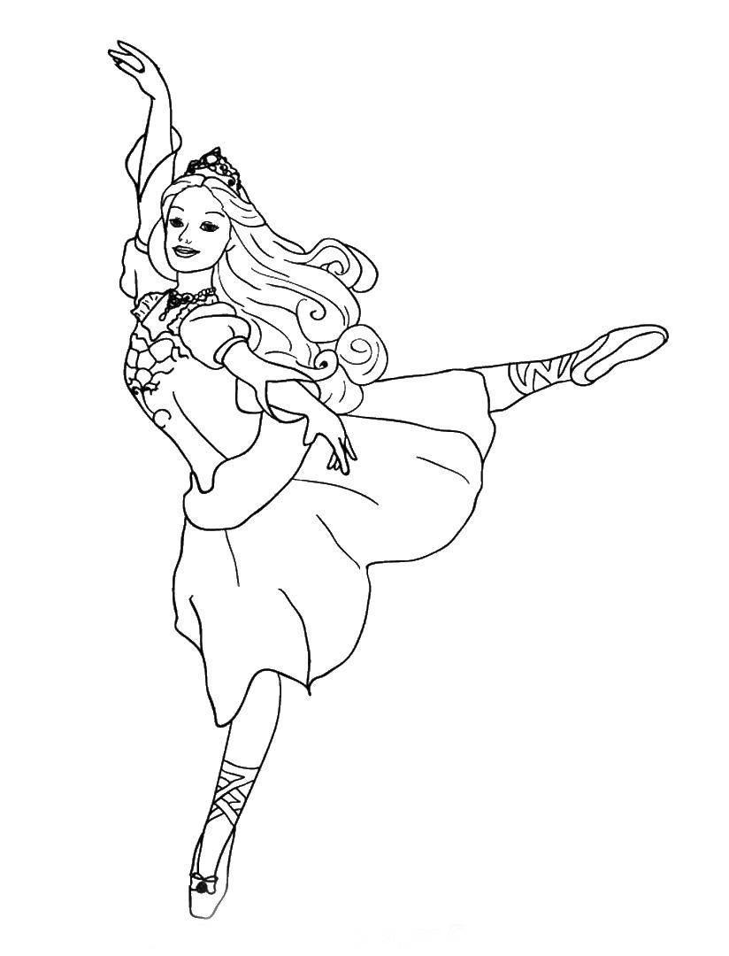 раскраски для девочек балерины распечатать бесплатно
