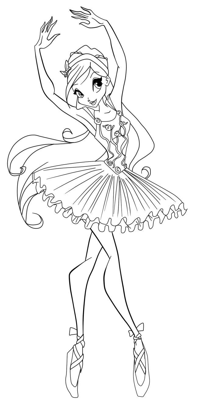 раскраски для девочек балерины