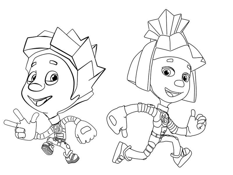 Раскраски для девочек Фиксики: распечатать, бесплатно ...