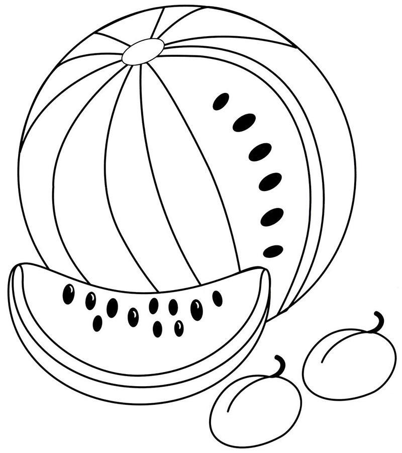 Раскраски для девочек фрукты и овощи: распечатать