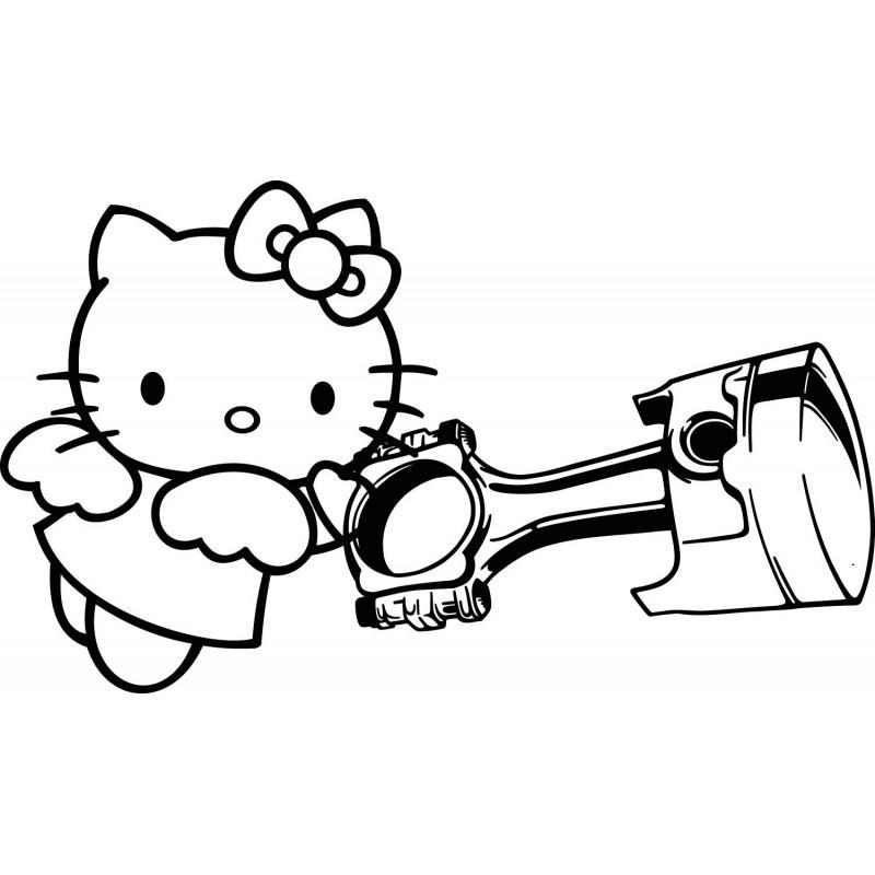 раскраски для девочек hello kitty бесплатно