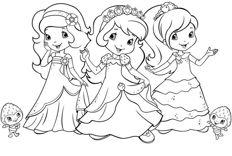 раскраски для девочек из мультиков