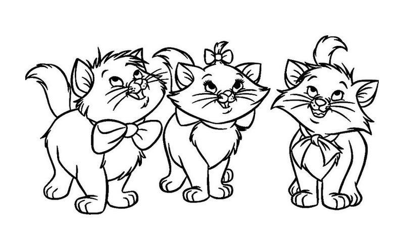 раскраски для девочек кошки и котята