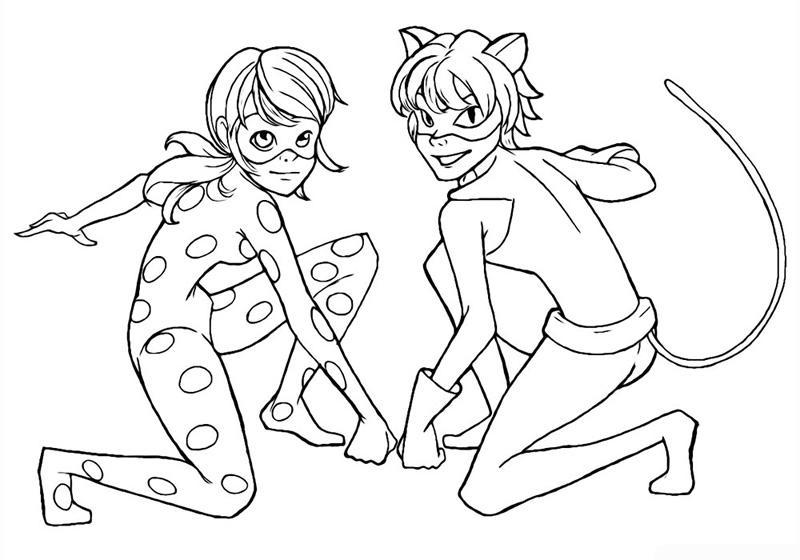 раскраски для девочек леди баг и супер кот раскраски