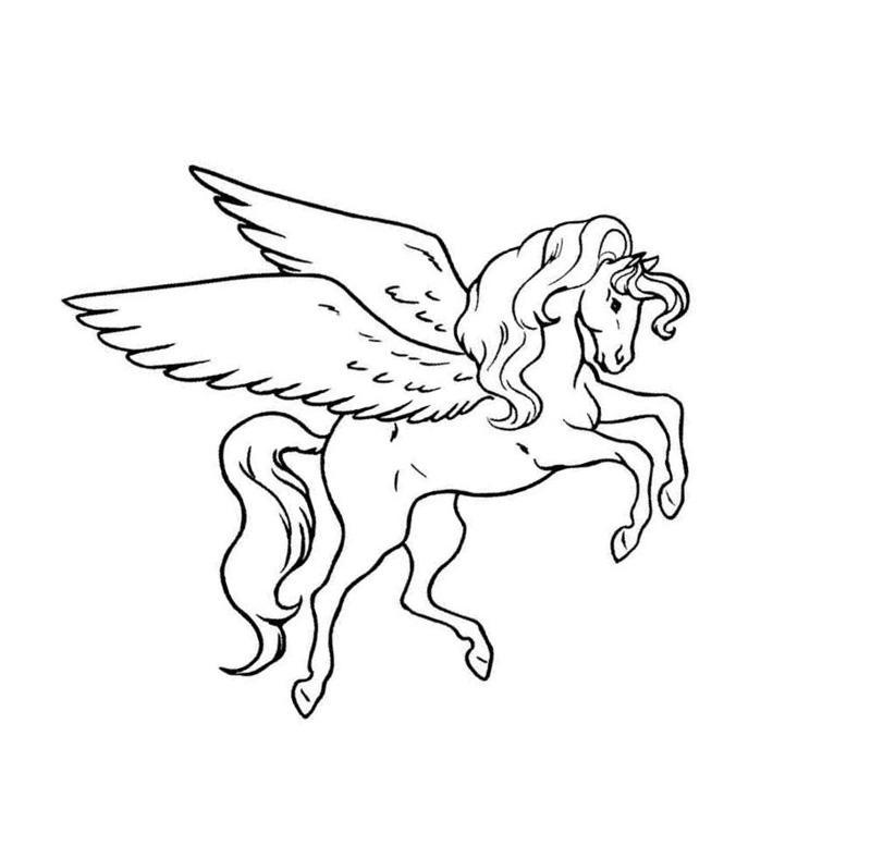 раскраски для девочек лошади с крыльями скачать