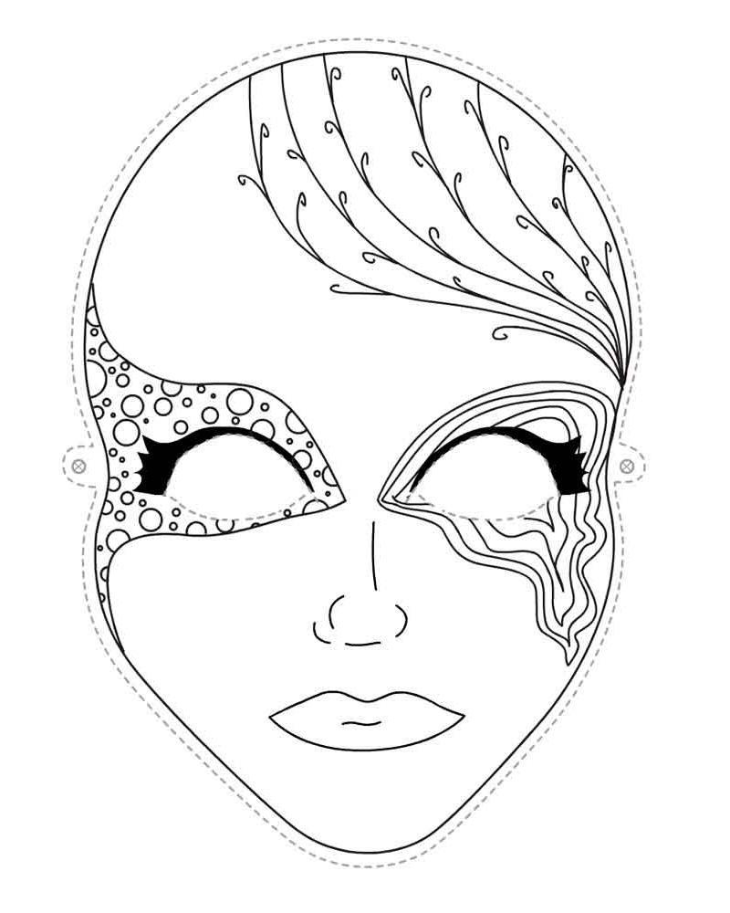 раскраски для девочек маска для лица