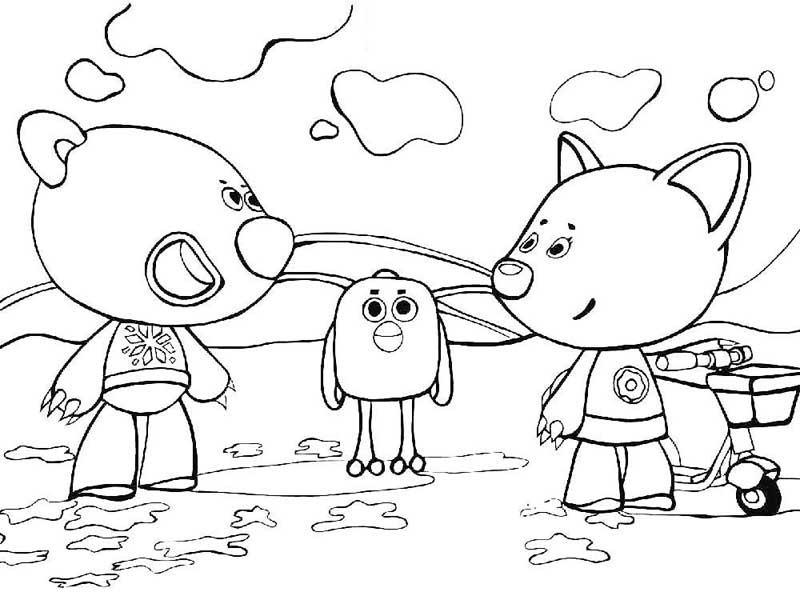 Раскраски для девочек Мимимишки распечатать бесплатно ...