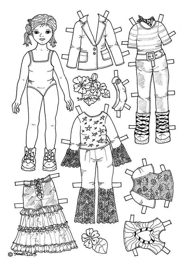 раскраски для девочек одежда для кукол