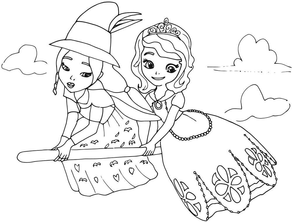 раскраски для девочек софия прекрасная распечатать бесплатно