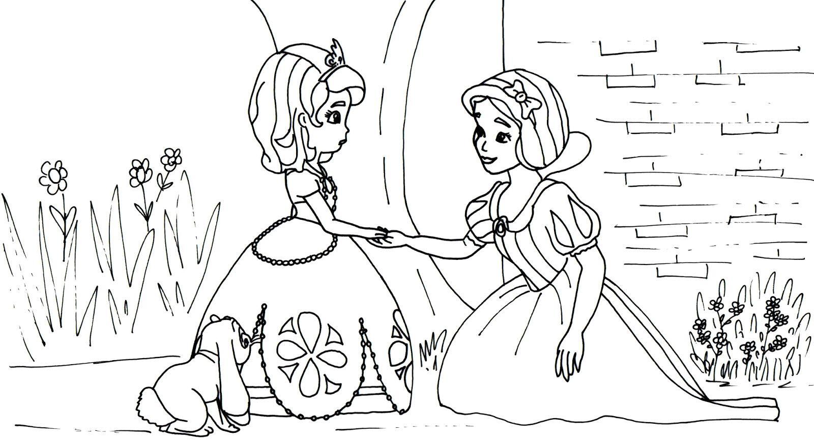раскраски для девочек софия прекрасная распечатать