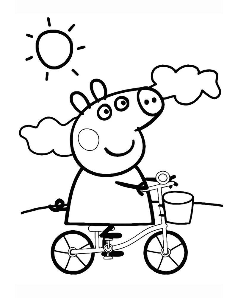 Раскраски для девочек Свинка Пеппа: распечатать, бесплатно