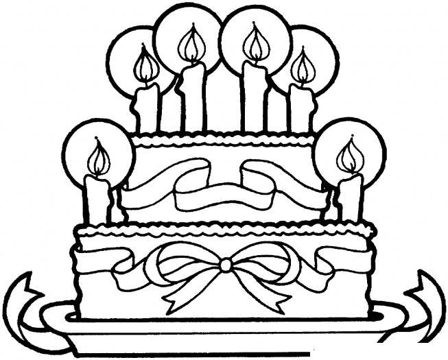 раскраски для девочек торты распечатать
