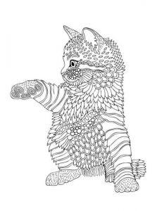 раскраски котиков антистресс