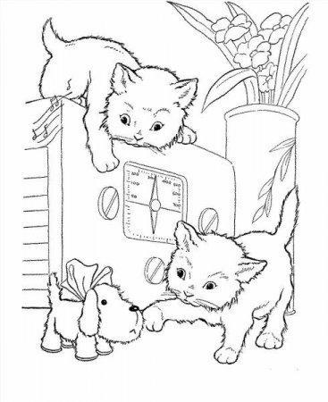 раскраски котята и щенки