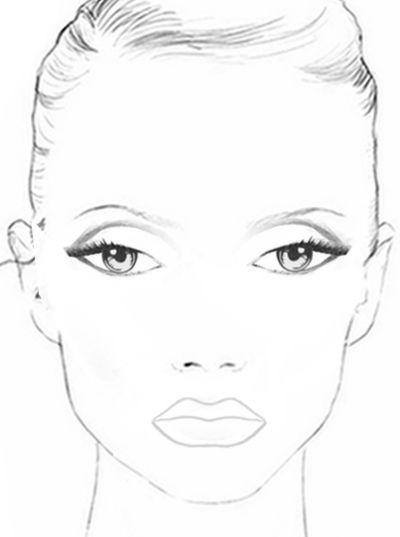 раскраски лицо девушки для макияжа распечатать