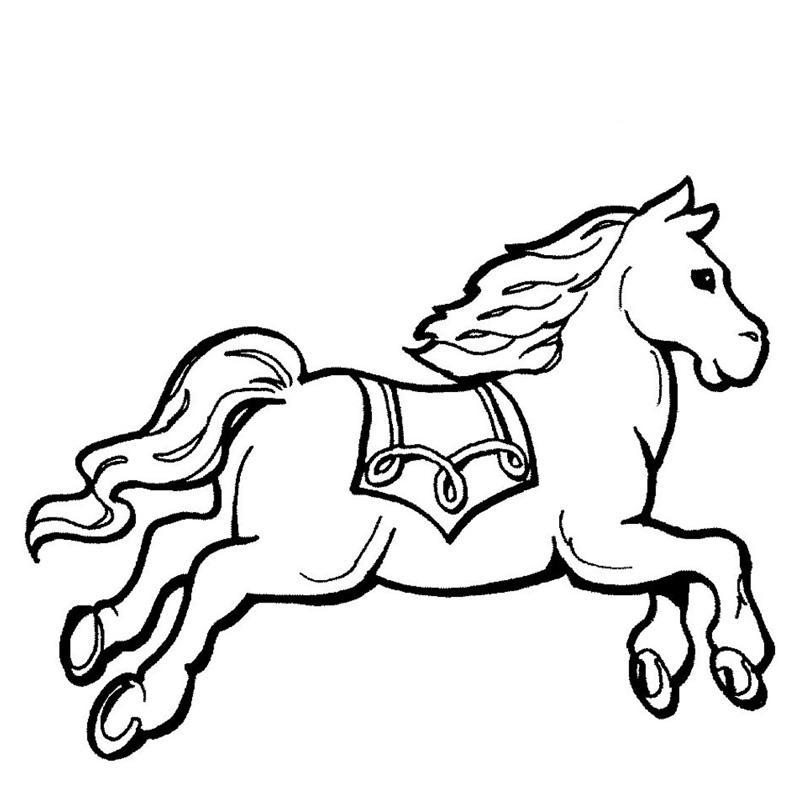 раскраски лошадки для девочек