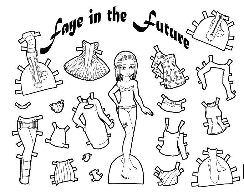 раскраски одевалки вырезалки для девочек