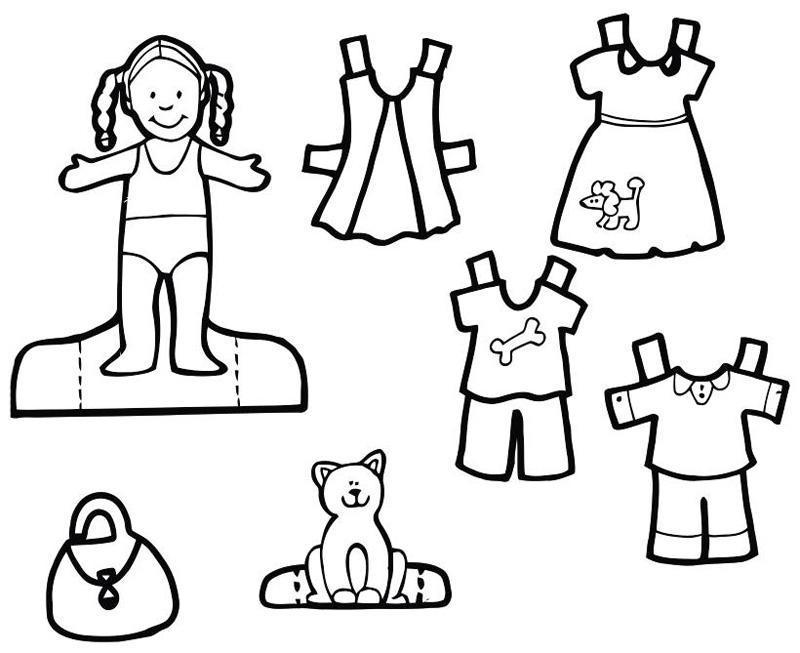 раскраски вырезалки для девочек