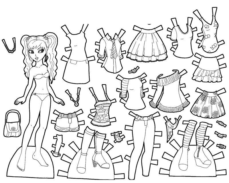 распечатать раскраски для девочек с одеждой