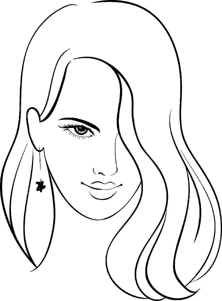 распечатать раскраски лица