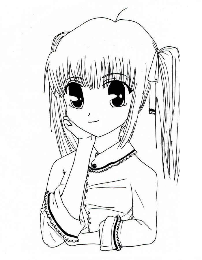 раскраска аниме для девочек 10 лет