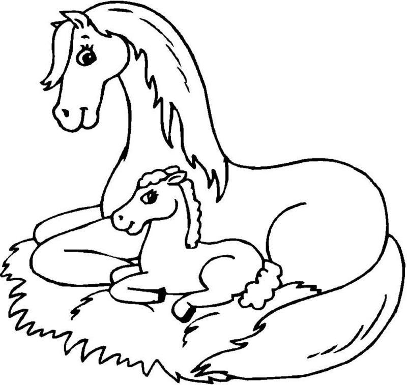 Лошадка картинки для детей распечатать для раскраски