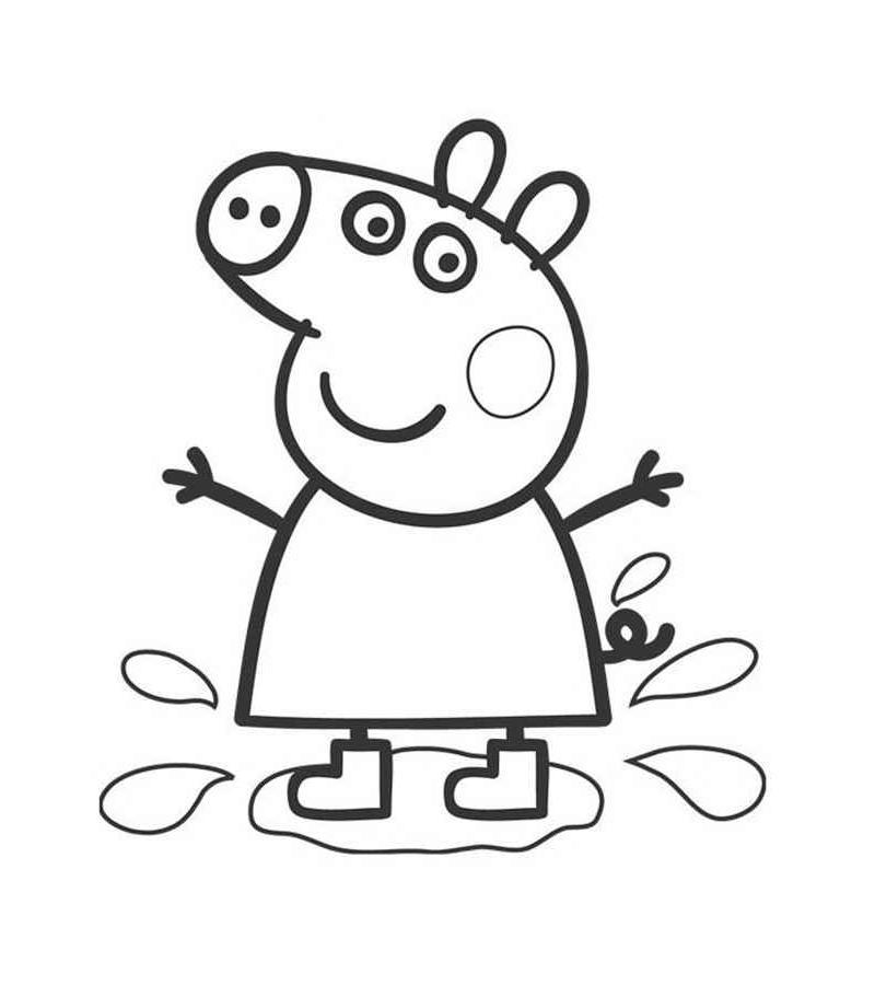 разукрашки для девочек свинка пеппа
