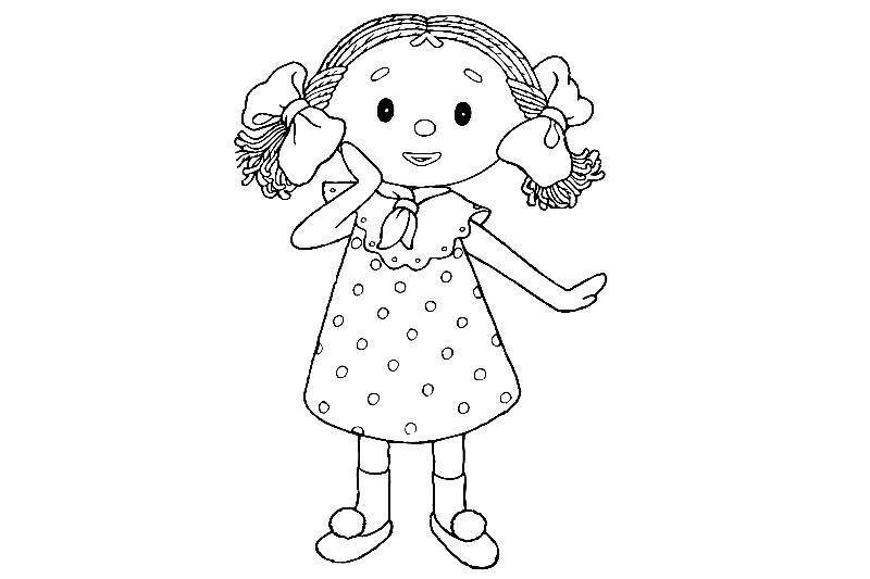 разукрашка для девочек - куклы