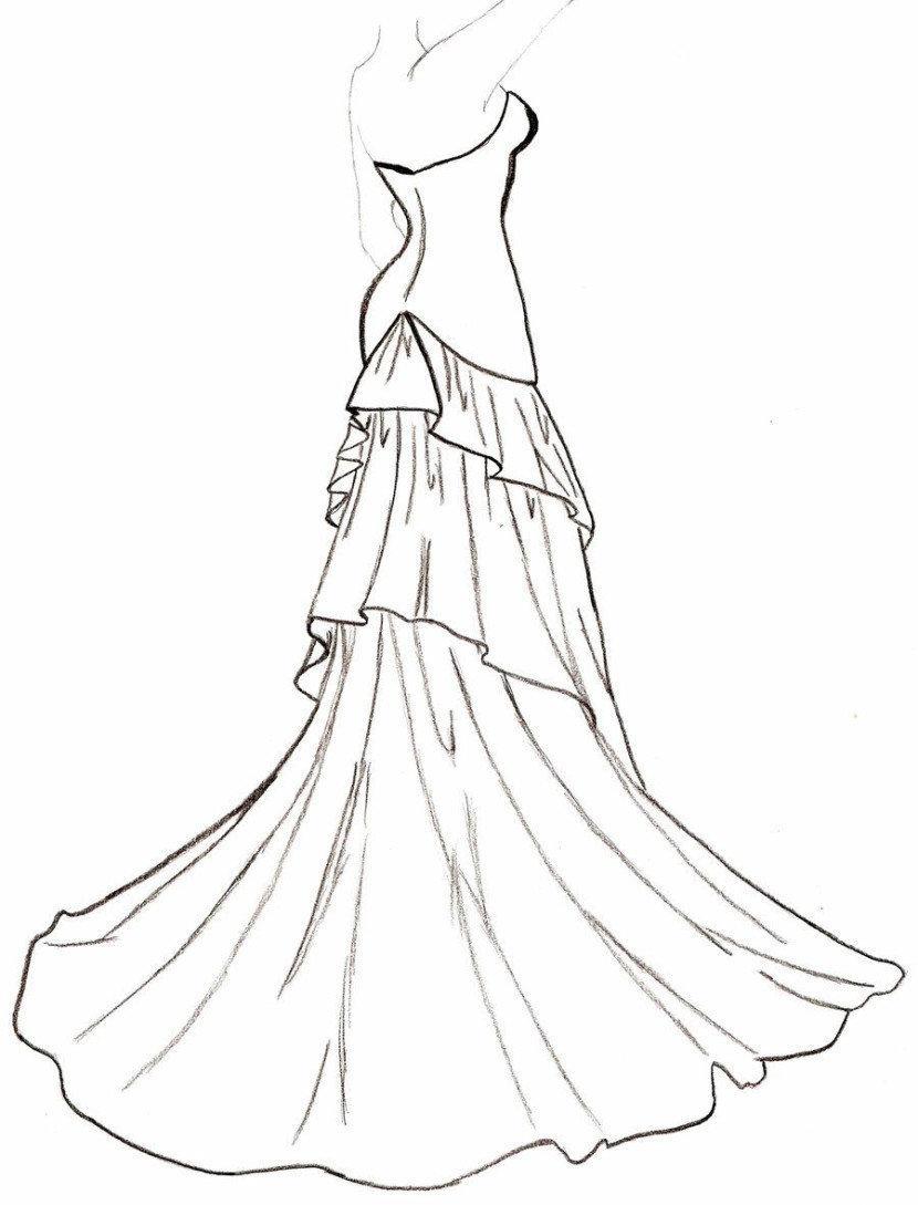 картинки как нарисовать красивые платья полночь четверга