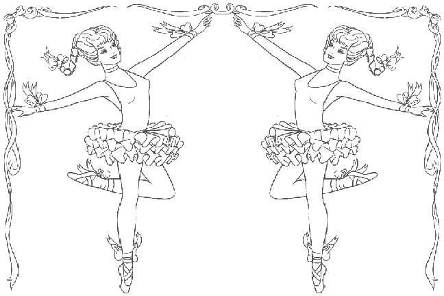 самые лучшие раскраски с балеринами