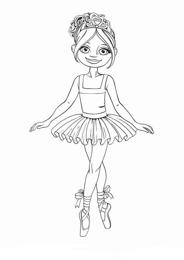 скачать раскраски балерина