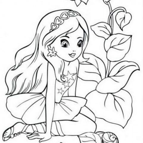 скачать раскраски для девочек 5 лет