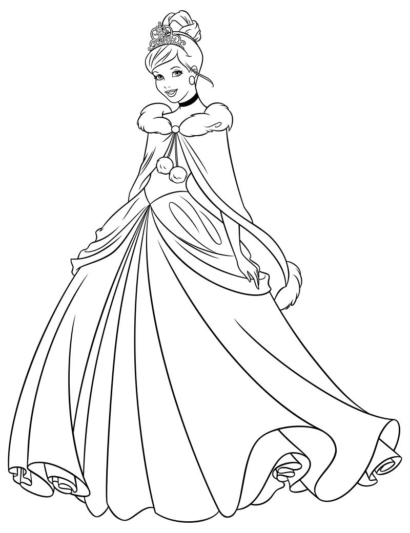 раскраски принцессы диснея распечатать бесплатно формат а4