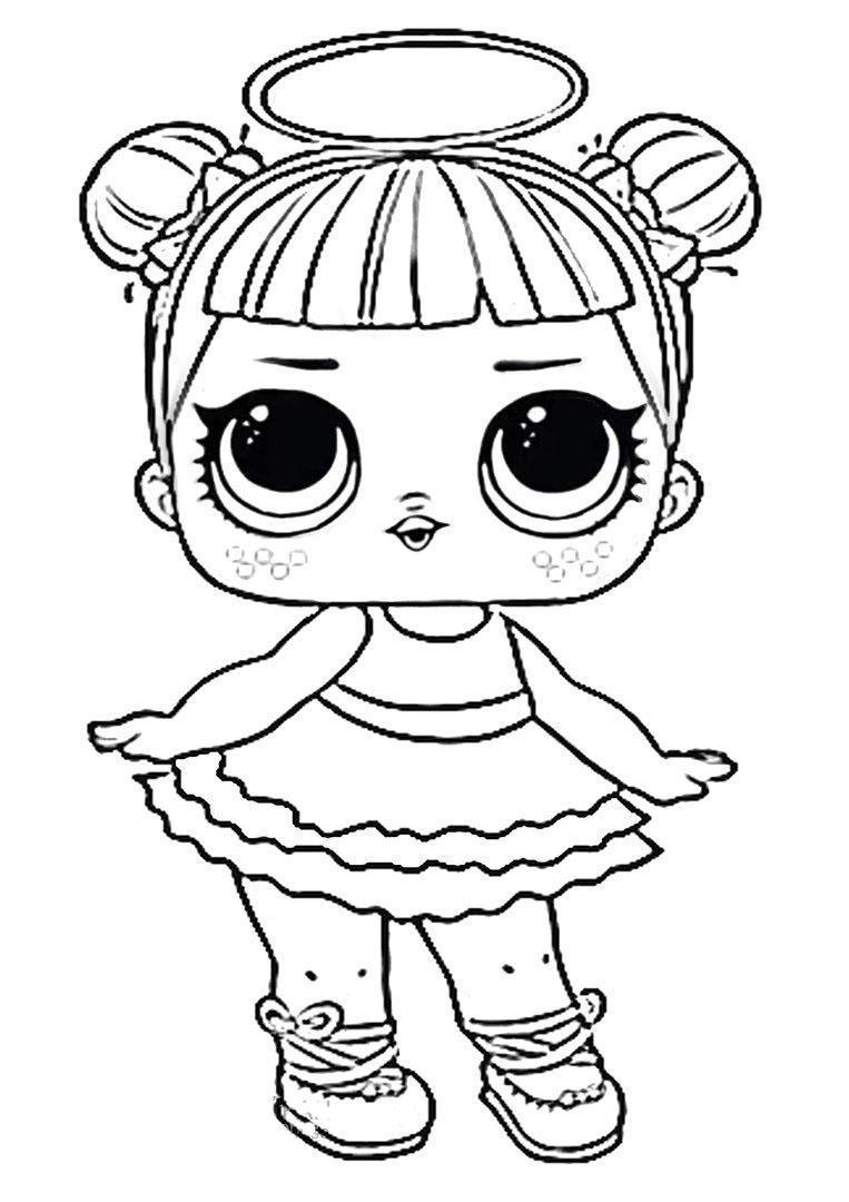 раскраска кукла лола формат а4 распечатать бесплатно