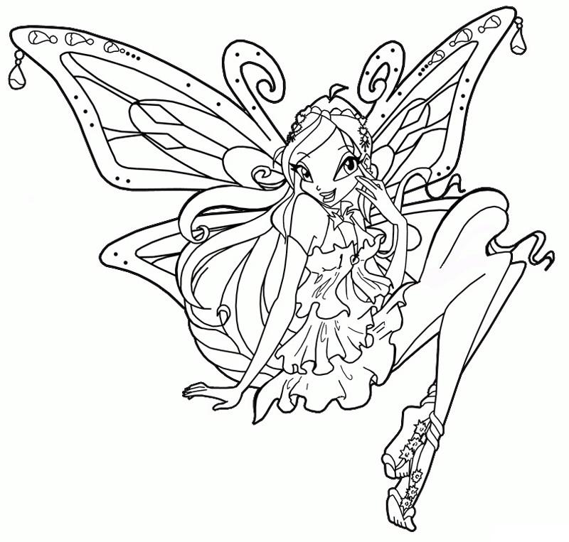 раскраски для девочек винкс и принцессы распечатать
