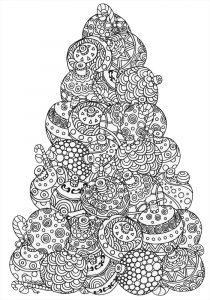 зимние раскраски антистресс елочка